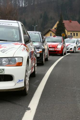 Rebenlandrallye 2013 Startaufstellung Rallye Autos