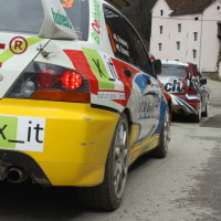 Lavanttal Rallye 2013 Mitsubishi Lancer Evo Heck