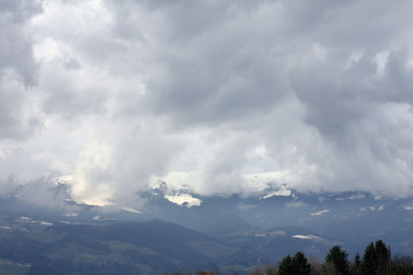 Lavanttal Rallye 2013 Landschaft Berge Schnee Wolken