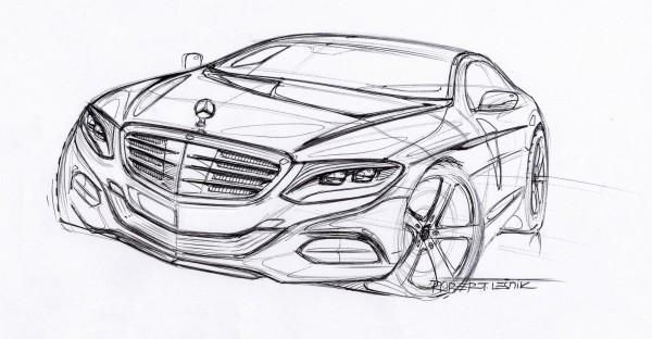 Mercedes-Benz S Klasse Sketch Zeichung