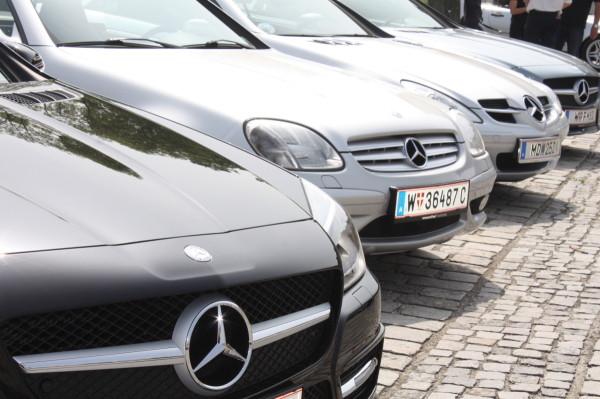 Mercedes-Benz SL Treffen Schloss Park Laxenburg
