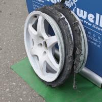 Schneebergland Rallye 2013 Reifenschaden Reifenplatzer Reifen aufgeschnitten Pirelli