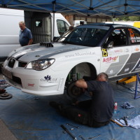 Schneebergland Rallye 2013 Stohl Racing Subaru Impreza WRX STI Service