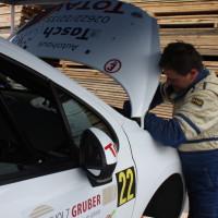 Schneebergland Rallye 2013 Alois Handler Peugeot 207 RC Service Arbeiten