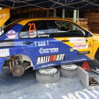Schneebergland Rallye 2013 Dr. Marius Klein Gassner Motorsport Mitsubishi Lancer Evo 7 Service