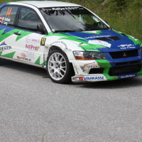 Schneebergland Rallye 2013 Martin Kalteis Mitsubishi Lancer Evo 7 Reifenschaden