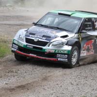 Schneebergland Rallye 2013 Raimund Baumschlager Skoda Fabia beschädigt