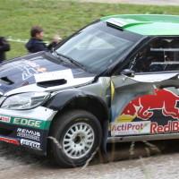 Schneebergland Rallye 2013 Raimund Baumschlager Skoda Fabia Kotflügel kaputt