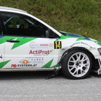 Schneebergland Rallye 2013 Martin Kalteis Mitsubishi Lancer Evo 7 Kotflügel
