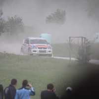 Schneebergland Rallye 2013 Mitsubishi Lancer Evo IX Gerwald Grössing Staub