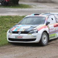 Schneebergland Rallye 2013 VW Polo Kris Rosenberger Tina Maria Monego cutten