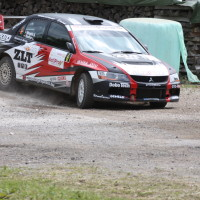 Schneebergland Rallye 2013 Mitsubishi Lancer Evo driften