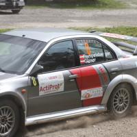 Schneebergland Rallye 2013 Mitsubishi Lancer Evo Schotter Staub