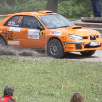 Schneebergland Rallye 2013 Robert Zitta Grünsteidl Subaru Impreza Schotter
