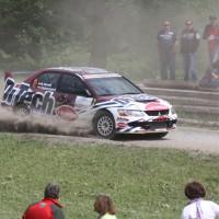 Schneebergland Rallye 2013 Beppo Harrach Mitsubishi Lancer EVO IX Schotter Staub
