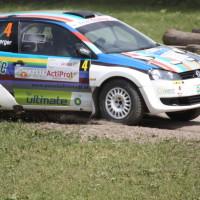 Schneebergland Rallye 2013 VW Polo Kris Rosenberger Driften