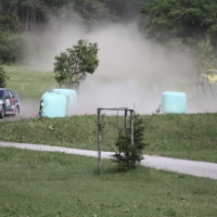 Schneebergland Rallye 2013 Sonderprüfung 9 Rundkurs Bieglhof Schikane