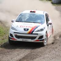 Schneebergland Rallye 2013 Alois Handler Peugeot 207 RC Staub Schotter
