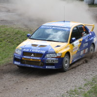 Schneebergland Rallye 2013 Dr. Marius Schotter Drift Mitsubishi Lancer Evo 7