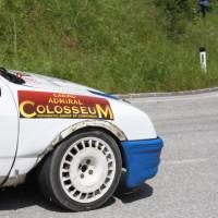 Schneebergland Rallye 2013 Kurt Göttlicher Ford Sierra Cosworth rechts vorne Schaden