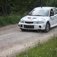 Schneebergland Rallye 2013 Franz Wittmann junior Mitsubishi Lanver Evo Vorausauto