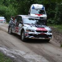 Schneebergland Rallye 2013 Beppo Harrach Mitsubishi Lancer EVO IX SP 11 Start