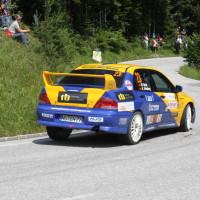 Schneebergland Rallye 2013 Dr. Marius Klein Zahnarzt Mitsubishi Lancer Evo VII
