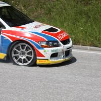 Schneebergland Rallye 2013 Grössing Mitsubishi Lancer Evo IX R4 Reifenschaden