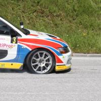 Schneebergland Rallye 2013 Grössing Mitsubishi Lancer Reifenschaden
