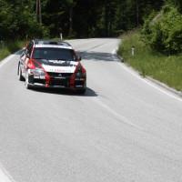 Schneebergland Rallye 2013 Attila Rongits Mitsubishi Lancer EVO 9