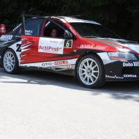 Schneebergland Rallye 2013 Attila Rongits Mitsubishi Evo 9