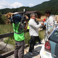 Schneebergland Rallye 2013 ORF Interview Kris Rosenberger