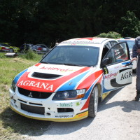 Schneebergland Rallye 2013 Mitsubishi Lancer Evo IX Gerwald Grössing