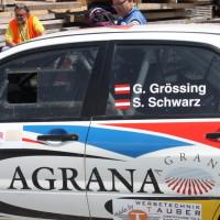 Schneebergland Rallye 2013 Mitsubishi Lancer Evo IX Grössing Sigi Schwarz