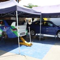 Schneebergland Rallye 2013 Service Park Mitsubishi Lancer