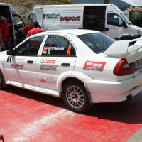 Schneebergland Rallye 2013 Vorausauto Mitsubishi Lancer Franz Wittmann jun