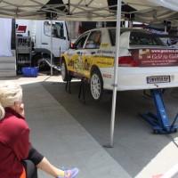Schneebergland Rallye 2013 Service Zone Reparatur Mitsubishi