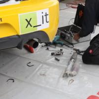 Schneebergland Rallye 2013 Service Mitsubishi Lancer Grössing Teile