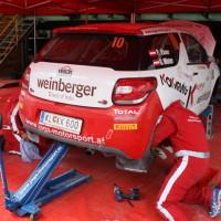 Schneebergland Rallye 2013 Citroen DS3 R3T Peter Ebner Service Zone