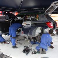 Schneebergland Rallye 2013 Baumschlager Skoda Fabia S2000 Service Arbeiten