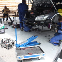 Schneebergland Rallye 2013 Baumschlager Skoda Fabia S2000 Service