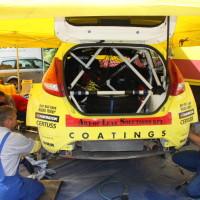 Schneebergland Rallye 2013 Service Arbeiten Ford Fiesta S2000 Olle