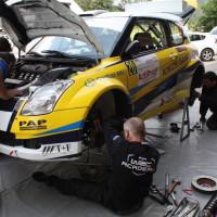 Schneebergland Rallye 2013 Suzuki Swift Reparatur