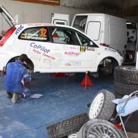 Schneebergland Rallye 2013 Ford Fiesta Servicearbeiten