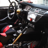 Schneebergland Rallye 2013 Mitsubishi Lancer Evo Innenraum