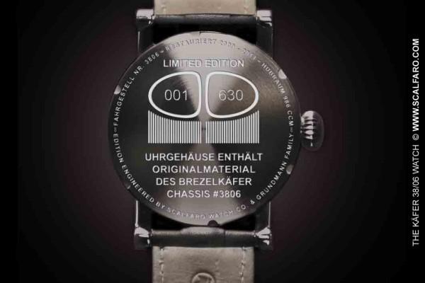 Uhr Gehäuse Kaefer 3806 Watch engineered by Scalfaro caseback