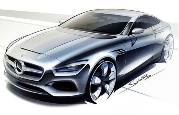 Mercedes-Benz S-Klasse Coupe Skizze