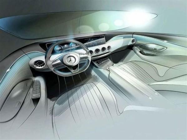 Mercedes-Benz S-Klasse Coupe Skizze Innenraum