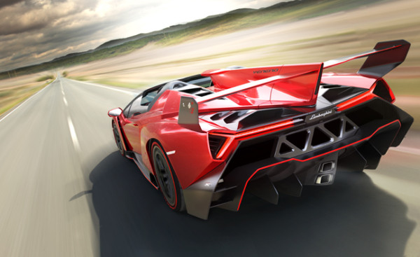 Lamborghini Veneno Roadster Heck