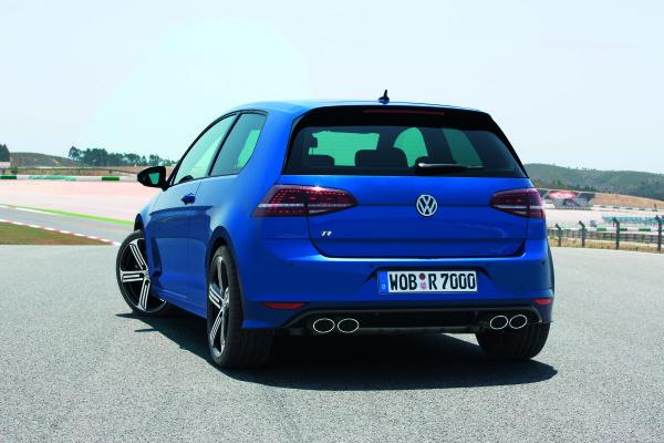 Der neue Volkswagen Golf R Heck